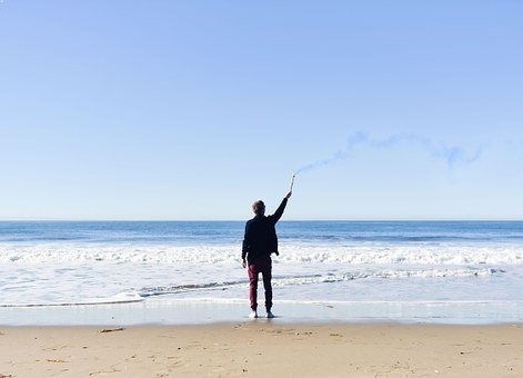 Person, Male, Beach, Lifestyle, Man, Torch, Outdoors