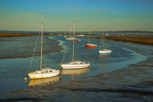 Yacht, Bay, Ocean, Keyhaven, United States Of America
