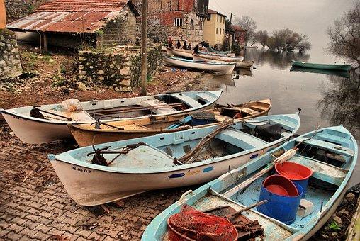Golyazı, Scholarship, Boat, Boats, Lake, Village, Town