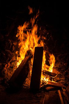 Open Fire, Fire, Wood, Burn, Blaze, Flame, Fireplace