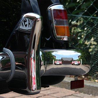 Mercedes Benz, Auto, Bumper, 190sl, Oldtimer, Mirroring