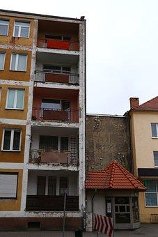 Block, Balconies, Emboss, Nowa Sól, Buildings