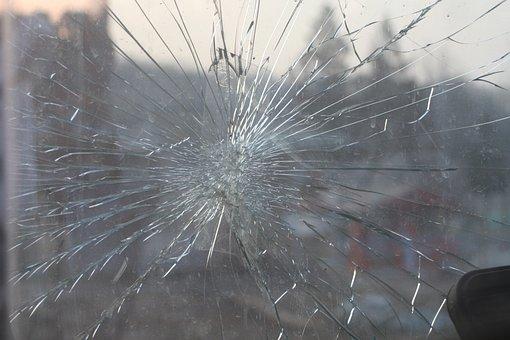 Broken Glass, Glass, Window, Windshield, Splinter