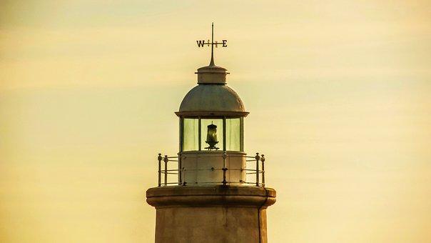 Cyprus, Cavo Greko Lighthouse, Afternoon, Hazy, Sunset