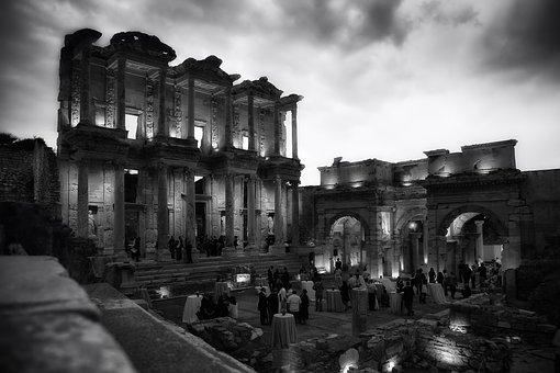 Celsus Library, Ephesus, Turkey, Ruins, Landmark