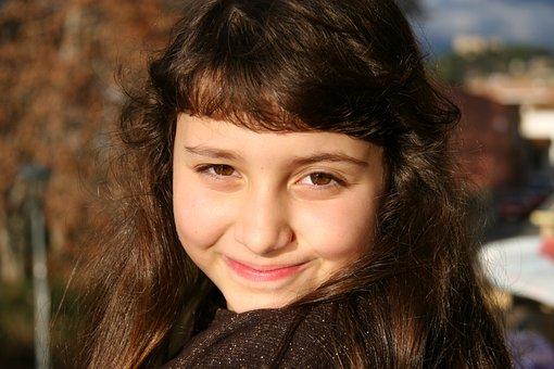 Girl, Portrait, Beauty, Smiles, Face, Eyes Marones