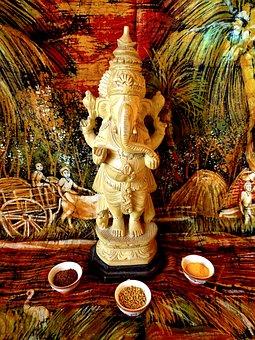 Ganesh, India, God Elefant, Buddhism