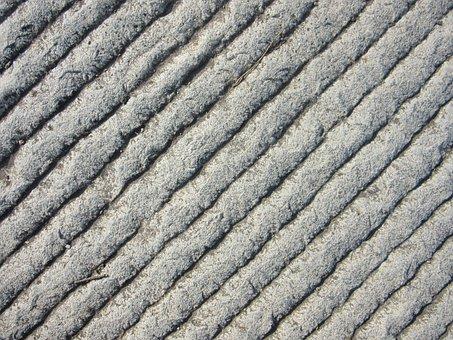 Steinplatte, Grooves, Stone, Ground, Scuffed, Grey