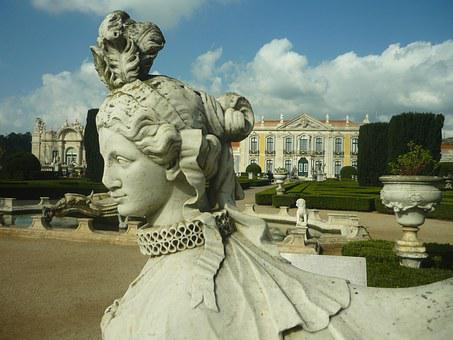 Sphinx, Statue, Stone, Head, Sculpture, Gardens, Palace