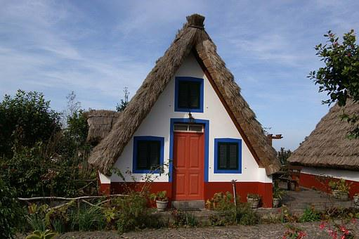 Home Madeira, Island, Portugal, Thatched Roof, Holiday