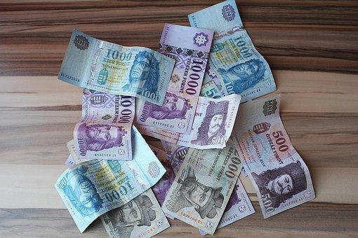 Huf, Hungarian Currency, Paper Money, Bills