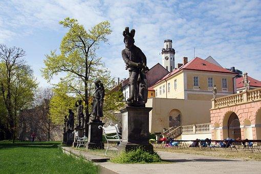 Klášterec, Castle, Garden, Monument, Czech Republic