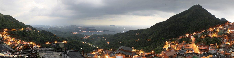 Taiwan, Night Light, Landscape, Building, Colourful
