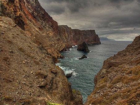 Ponta De São Lourênço, Madeira, Sea, Rock, Coast, Ocean