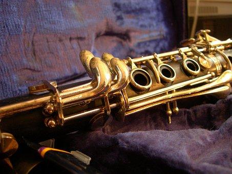 Clarinet, Gold, Kit, Music, Breath, Instruments