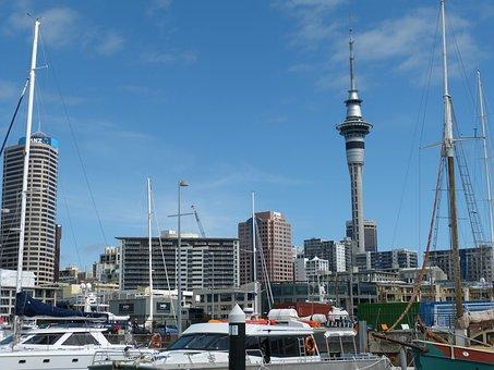 New Zealand, Auckland, Skyline, Skyscraper, City