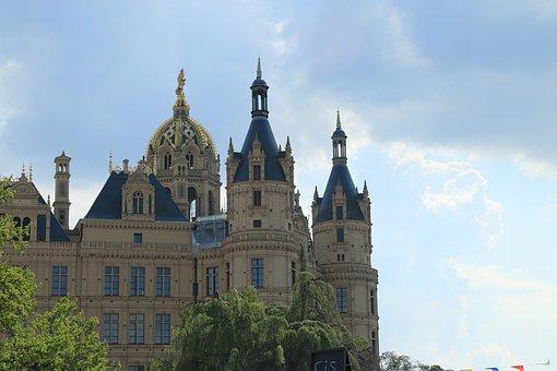 Schwerin, Castle, Schwerin Castle, Tower, Noble, Kupel