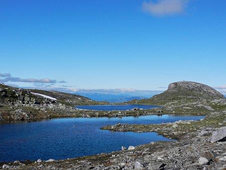 Water, The Mountain, Blue, Sky, Norway, Feel Like