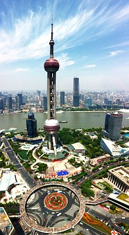 Shanghai, Pearl Of The Orient, Panorama, Blue Sky