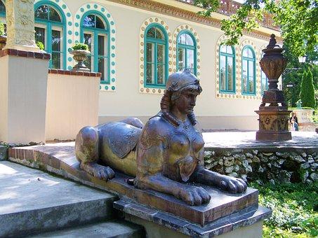 Sphinx, Statue, Zsolnay Cultural Quarter, Pecs