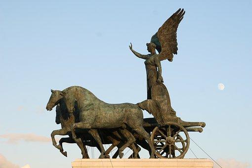 Rome, Vittorio Emanuele Monument, Statue, Angel