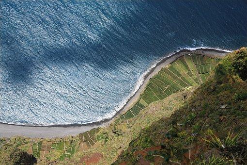 Madeira, Portugal, Cliff, Cliffs, Sea, Atlantic, Rock