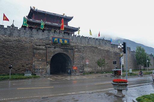 Southwest China, City Wall, Songpan