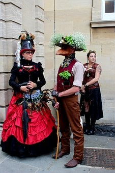 Steampunk, Steam-punk, People, Steam Punk, Red, Steam
