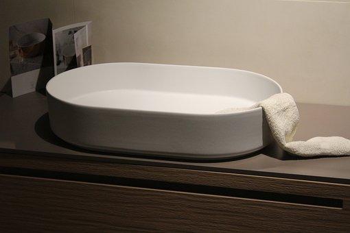 Sink, Bathroom, Basin, Wash, Towel