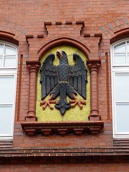 Eckernförde, Mecklenburg, Coat Of Arms, Adler, Facade
