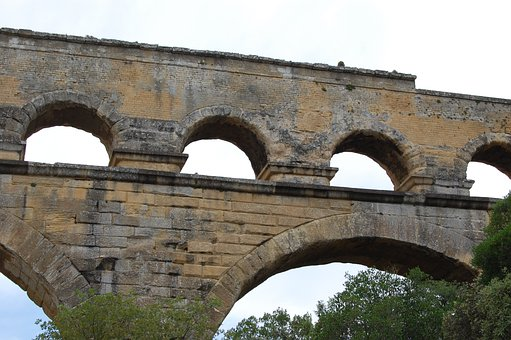 Pont Du Gard, Romans, Antique, Archaeology, Aqueduct