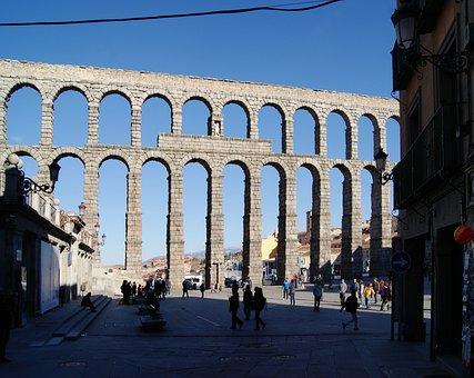 Aqueduct, Architecture, Monument, Roman, Segovia, Stone