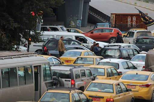 Traffic, Traffic Jam, Baghdad, Iraq