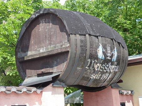 White Beer Keg, Beer Keg, Barrel, Wood, Huge