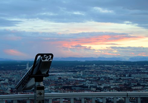 Olympia Tower, Munich, Olympic Park, Tower, Binoculars