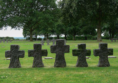 Normandy, Cemetery, Graves, Military