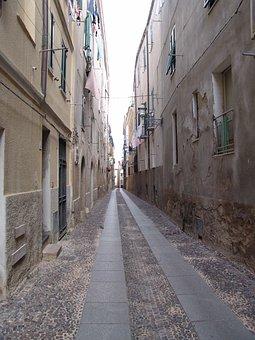Sardinia, Bosa, Road, City, Deserted, Alley, Homes