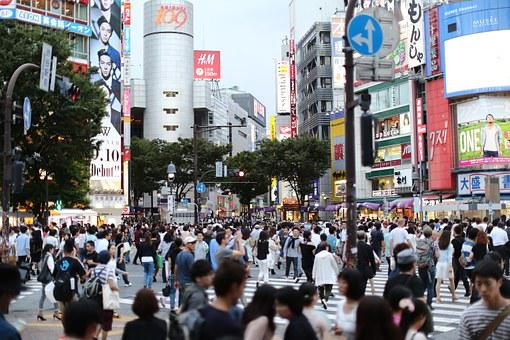 City, Tokyo, Street View, Shibuya, Road, Humanities