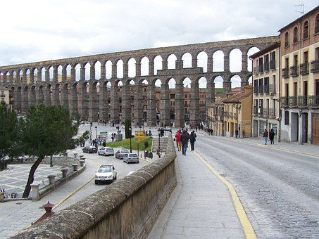 Segovia, Aqueduct, Azoguejo, Monument, Civil Works