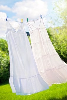 Clothesline, Summer, Nighties, Clean, Fresh, Laundry