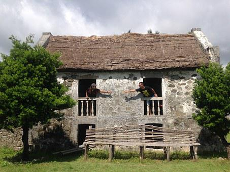 Couple In Old Stone House, Couple, Travel, Stonehouse