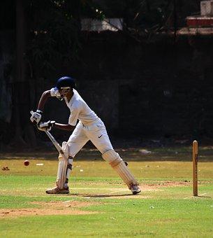 Batsman, Cricket, Defense, Ball Game, India