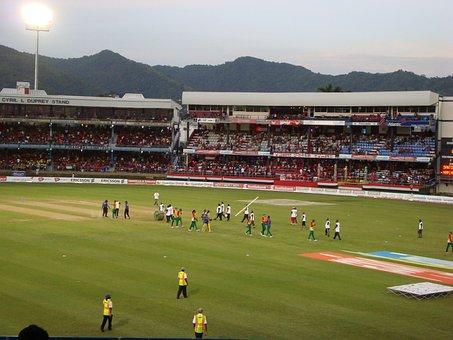 Cricket, Field, Stadium, Sport, Competition, Match