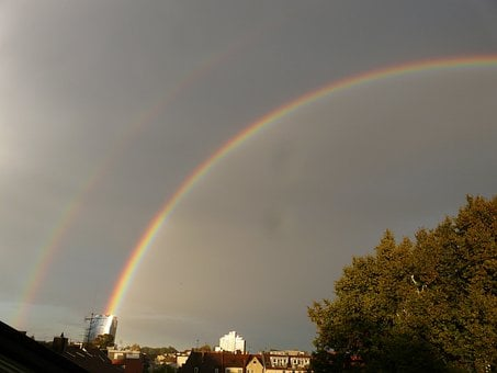 Double Rainbow, Rainbow, Mirroring, Refraction, Double