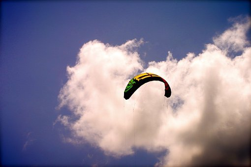 Kite Surfing, Kite-boarding, Kite, Beach, Flying Kite