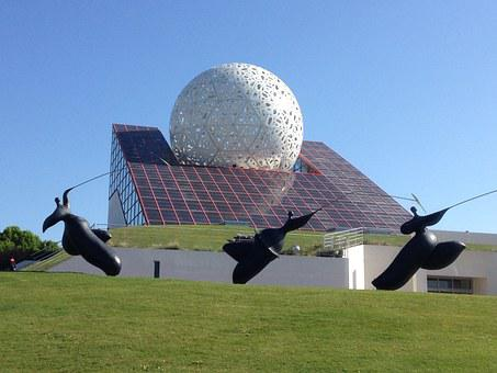 Futuroscope, Architecture, Amusement Park, Modern