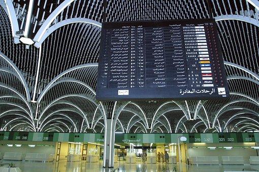 Baghdad, Iraq, International Airport, Flight Board
