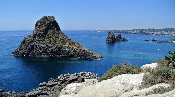 Cyclopean Isles, Sicily, Italy, Sea, Ocean, Water