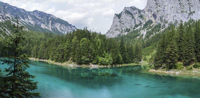 Lake, Water, Mirroring, Green Lake, Tragöss
