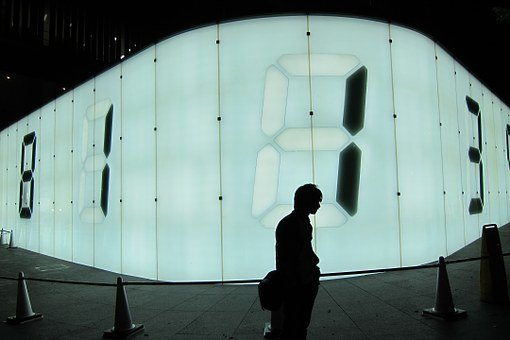 Led, Lights, Screens, Numbers, Man, Guy, Silhouette